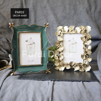 New Resin Retro Blackish Green Photo Frame 6inch Golden Ginkgo Leaf photo frame home decorations 1pc/lot