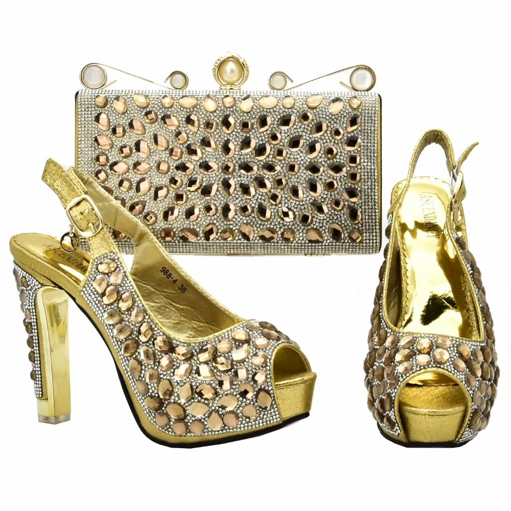 Sandal shoes lady and clutches bag matching set for african aso ebi italian shoes bag gold italian shoes and bag set SB8334-1Sandal shoes lady and clutches bag matching set for african aso ebi italian shoes bag gold italian shoes and bag set SB8334-1