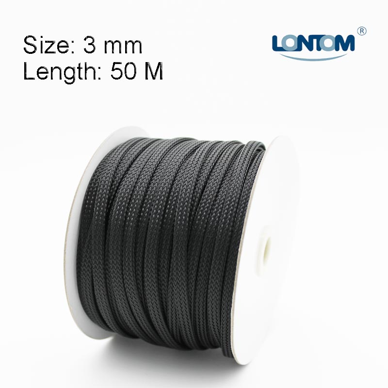 3 mm 50M PET Braided Expandable Auto Wire Cable Sleeve High Quality