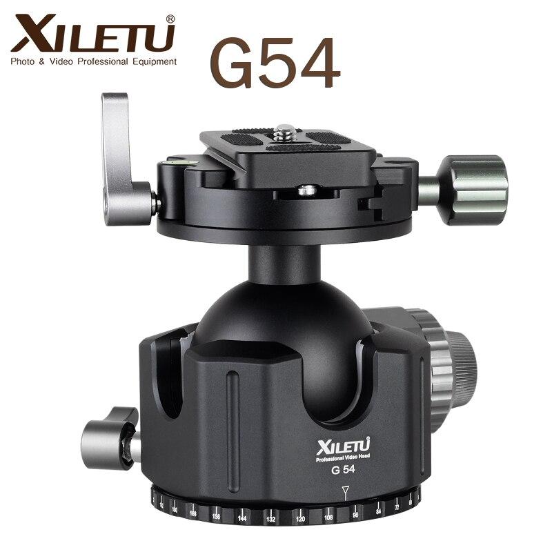 XILETU G 54 Tripod Ball Head 360 Degree Double Panoramic Photography Aluminum Ballhead Heavy Duty With