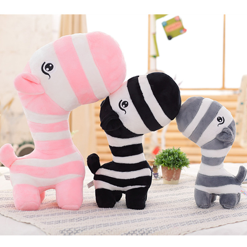 Cute Zebra Plush Toy 28 cm Plush Dolls For Children High Quality Soft Cotton Baby Brinquedos Animals For Gift 2018 talking hamster mouse pet plush animals toy hot cute speak talking sound record educational toy for children gift