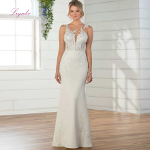 Liyuke Sheath Wedding Dress Floor-length Scoop Heart