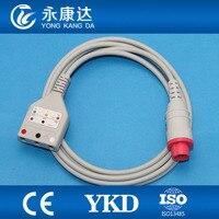 Bionet Korea ECG trunk cable,3 lead ECG trunk cable ,AHA/IEC,LL style