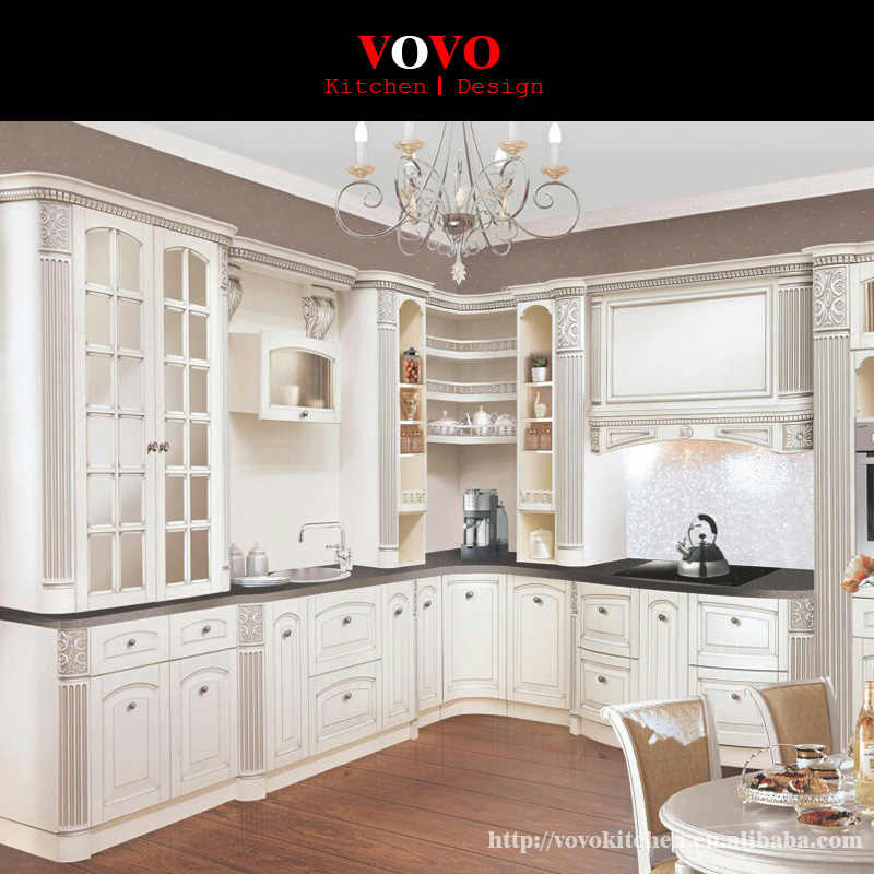 2016 hot sales good quanlity retail wholesales traditional solid wood kitchen cabinets white color