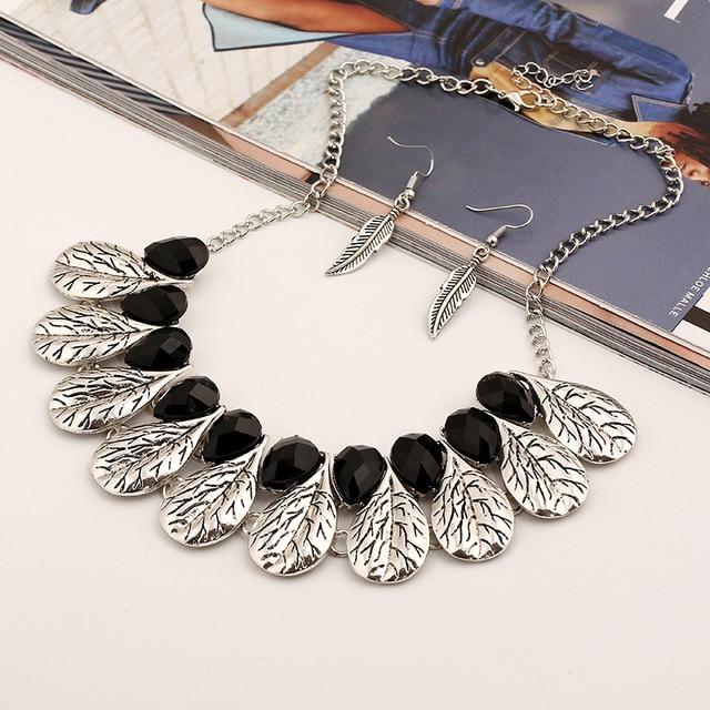 Женское винтажное ожерелье lzhlq с подвеской в виде листа мозаичное