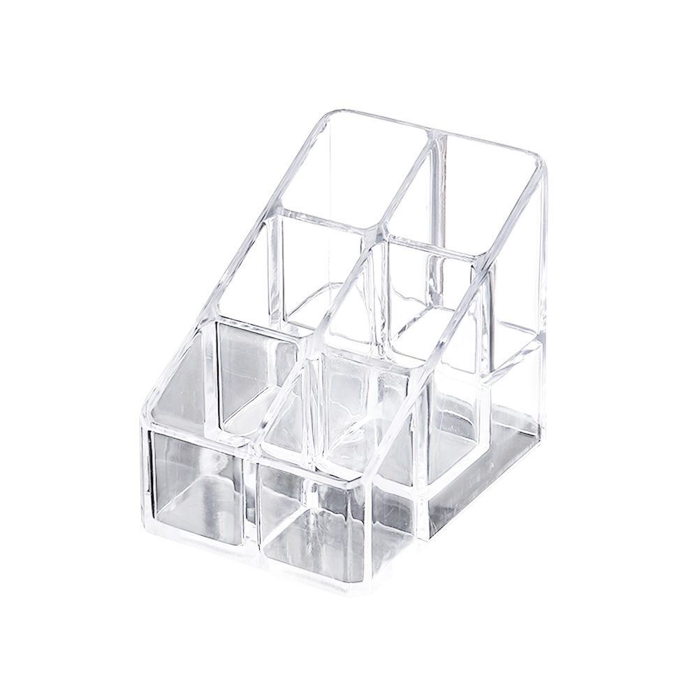 1PC Makeup Storage Box Transparent Acrylic Cosmetic Desktop Lipsticks Holder Organizer Display Stand Organizer
