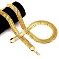 NYUK New Arrival Fashion Width Chain Long Necklace Men Women Fashion Breadth Hip Hop Gold Plated 75cm Long For Men/Women Gift