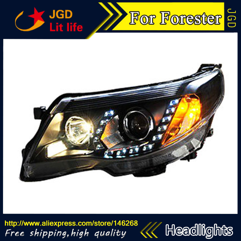 Car Styling Led Hid Rio Headlights Head Lamp Case For Subaru Forester 2009 2017 Bi Xenon Lens Low Beam