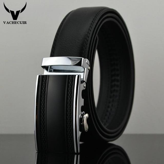 Cinturones de Cuero de Moda masculina Automática Hebilla