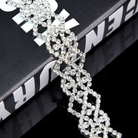 100Yards Beaded Rhinestone trimming chain Crystal Trim Bridal Accessories