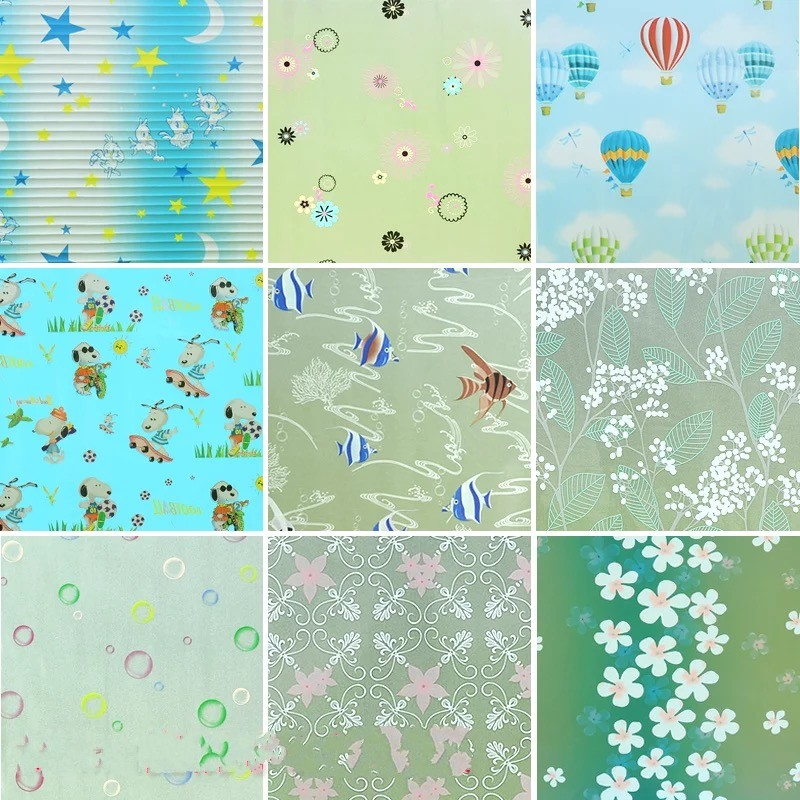 45x200cm Stained Privacy Window sticker Frosted Glass film Self-adhesive toning bathroom office sunscreen Home decorative films