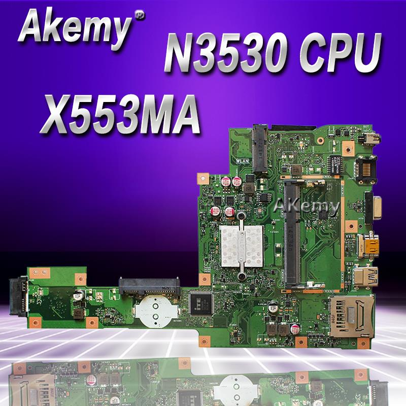 Akemy X553MA With N3530/3540 CPU Mainboard REV2.0 For ASUS F503M X503M F553MA X503MA D503M Laptop Motherboard MAIN BOARD