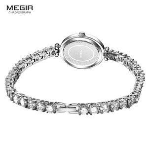 Image 5 - Megir 女性の時計ファッション 2018 新シンプルなアナログ高級腕時計女性 Relogios Femininos 時計 4206 白