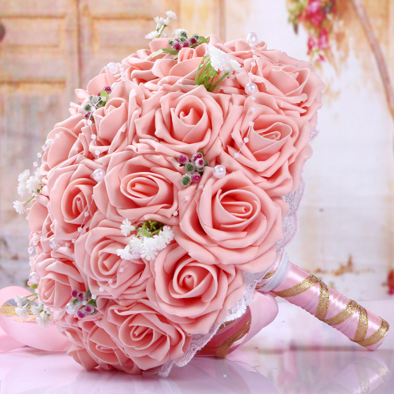 BQ05 (6)  Synthetic Lady Marriage ceremony Bouquets for Bridals Rose Flowers De Mariage Bridal Bouquet Marriage ceremony Holder Bouquet Peonies Equipment HTB1XSpvs1OSBuNjy0Fdq6zDnVXaH