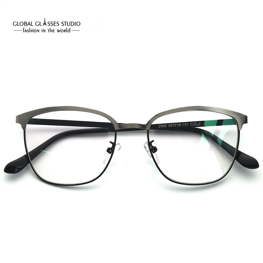 3c8f19c9acd Latest Design Eyebrow Metal Glasses Brushed Color Precious Metal Optical  Frame Business Men Comfortable Spectacle Frame RSG028