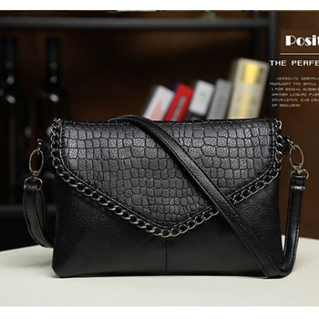 high quality cute women leather handbags women Shoulder bags Crossbody Bags retro summer black PU leather small Envelope bag