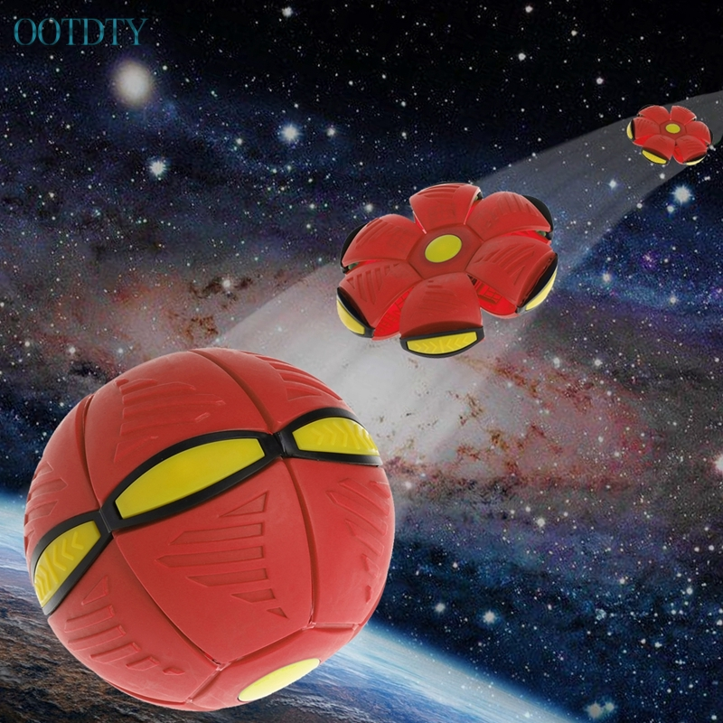 Hot Selling Flying UFO Flat Throw Disc Ball With LED Light Toy Kid Outdoor Garden Beach Game #330