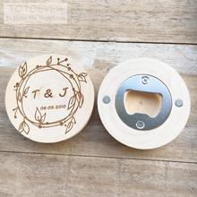 Personalized logo Custom name date Wood Bottle Opener Refrigerator magnet wedding favors and gifts wedding gifts for guests personalized wood watch customization best gifts for dad friend birthday and anniversary gifts custom logo