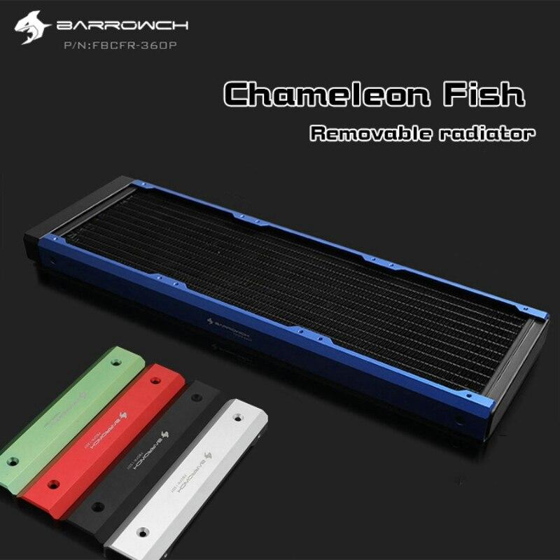 Barrowch FBCFR-360 caméléon poisson modulaire 360mm radiateurs acrylique/POM radiateurs amovibles adaptés aux ventilateurs 120mm