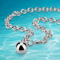 silver water-wave necklace women,ladies necklace brand 2014 beads chain 925 sterling silver  necklace ball pendant long necklace