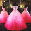 Vestido A Juego de Color de Cristal Con Cuentas Vestidos De quinceañera Dulce 16 Anos Elegante de Bola Formal Del Partido Vestidos Del Desfile