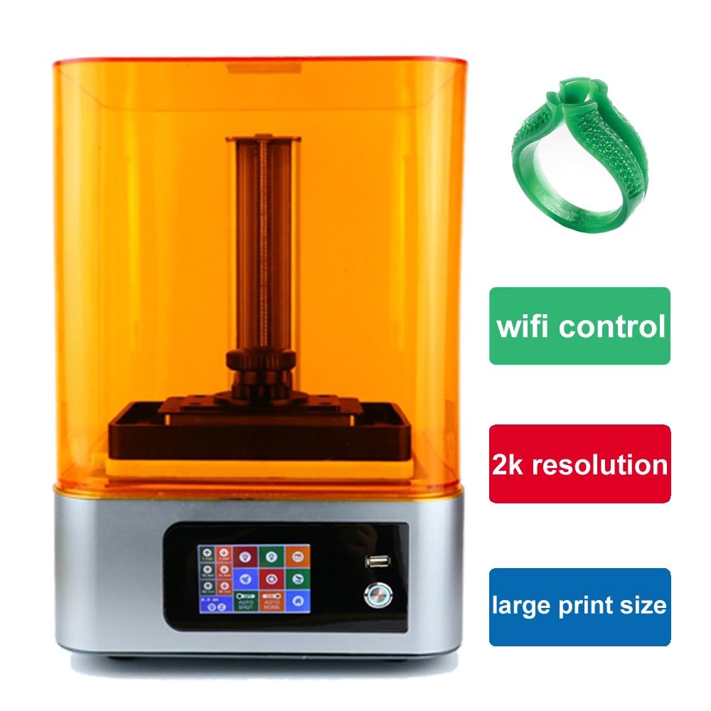 Скульптор УФ-отверждения Wi-Fi SLA/ЖК 3d принтер большой с 405нм УФ-смола DLP Impresora для ювелирных изделий стоматологии Фотон подарок