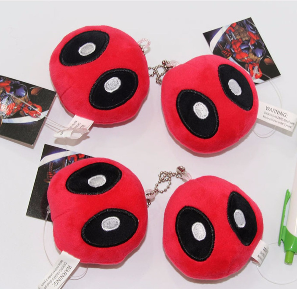 2016 New X-men Blocks Deadpool 8Plush doll Collectible PLUSH DOLL Charm Soft Plush Toy Keychain Keyring image