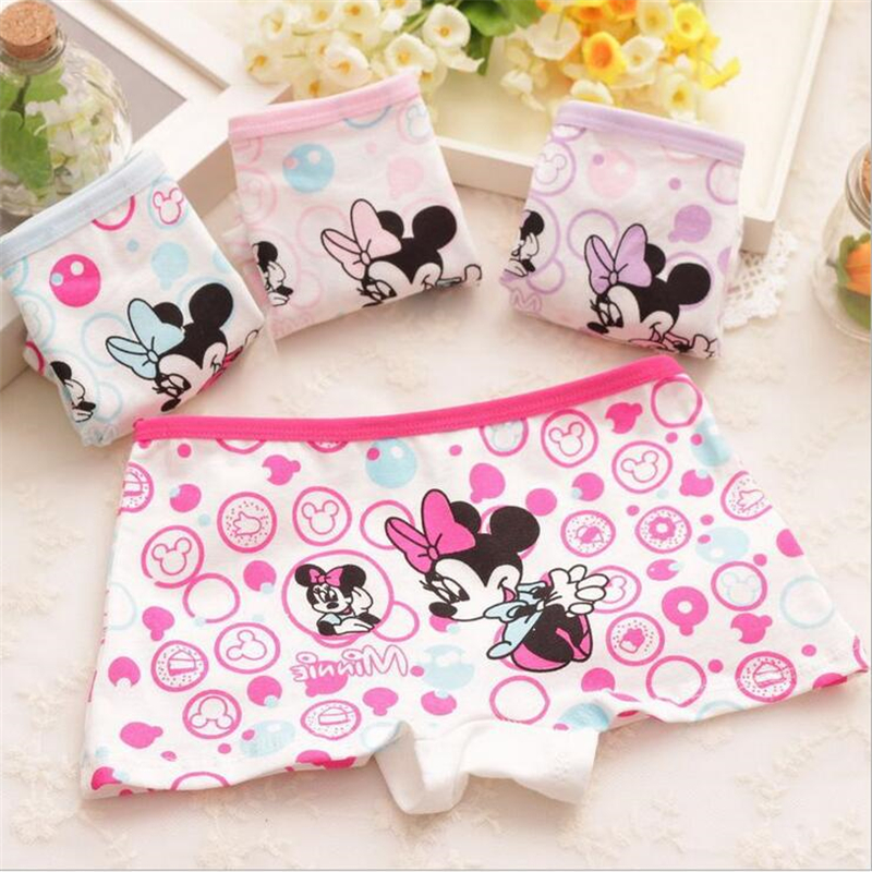 2019 Super Cute Cartoon Print Girls Underwear Kids Knickers Children Panties Pure Cotton Baby Girls Briefs Boxer Shorts