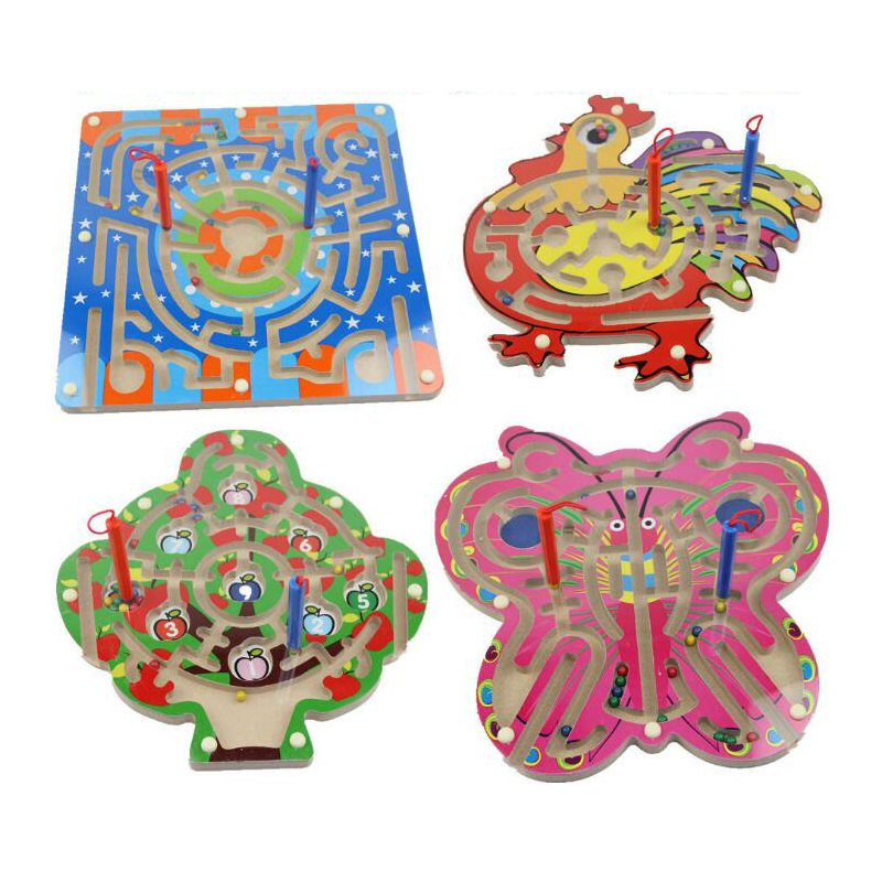 Детский Магнитный лабиринт игрушка деревянная головоломка для детей игра игрушка Дети Ранние образовательный мозговой тизер деревянная и