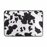 Vaca leiteira Padrão Casa de Banho Quarto Mat Estilo Bonito para as Crianças Do Quarto Presente Máquina Lavável Tapetes de Microfibra Chenille Tapete