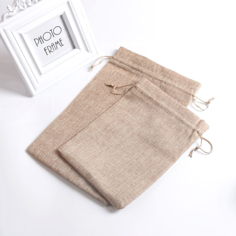 50 unids/lote 17x23 20x30 cm bolsa de joyería con cordón Vintage bolsas de gran tamaño yute de arpillera bolsa de regalo de boda-in Envase y exposición de joyería from Joyería y accesorios    1
