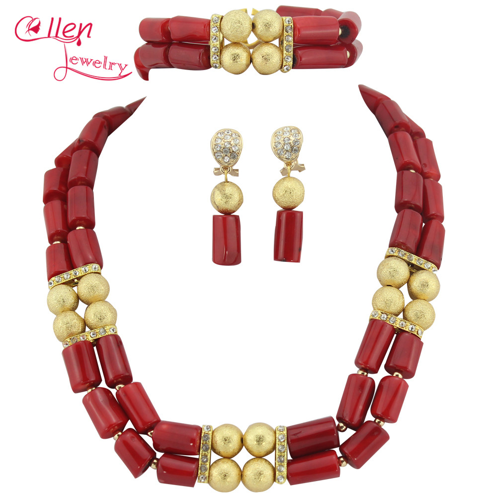 Orange African Coral Jewelry Set Coral Beads Necklace Set Nigerian African Wedding Beads Jewelry Set   TL1712Orange African Coral Jewelry Set Coral Beads Necklace Set Nigerian African Wedding Beads Jewelry Set   TL1712