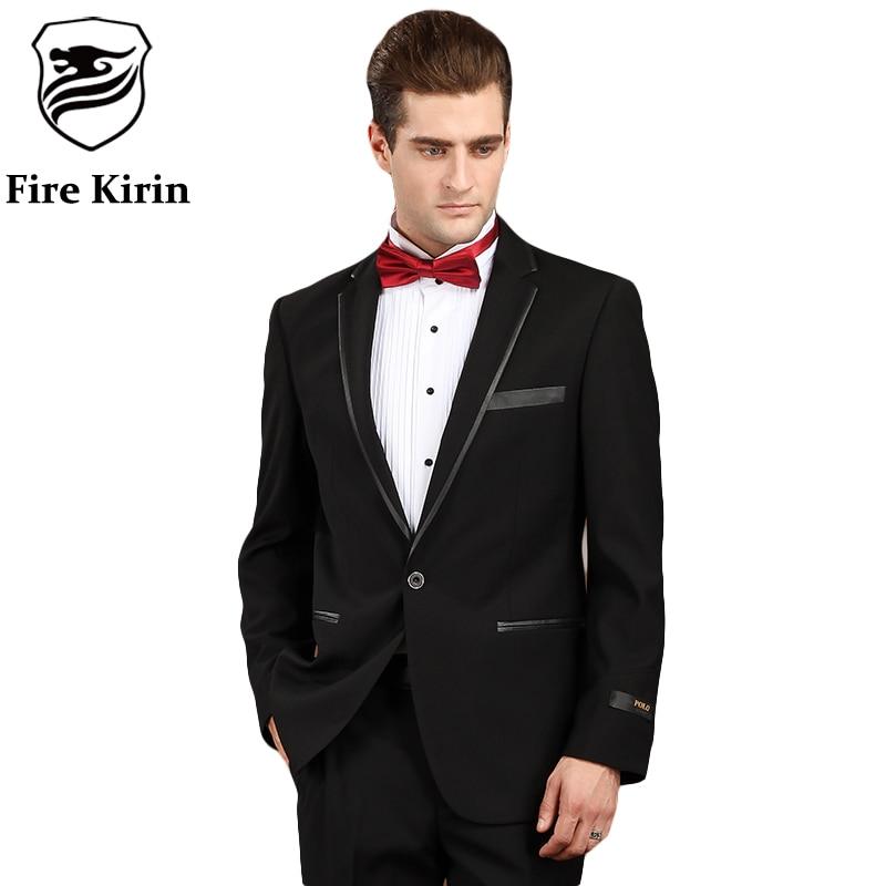Aliexpress.com : Buy Fire Kirin Men Suit 2017 Black Prom ...