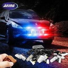 Aeing 16×2 автомобиля светодиодная вспышка аварийного Строб Предупреждение Гриль свет wireless control Ultra Bright 32 светодиодных 32 Вт красные, синие Янтарный Белый