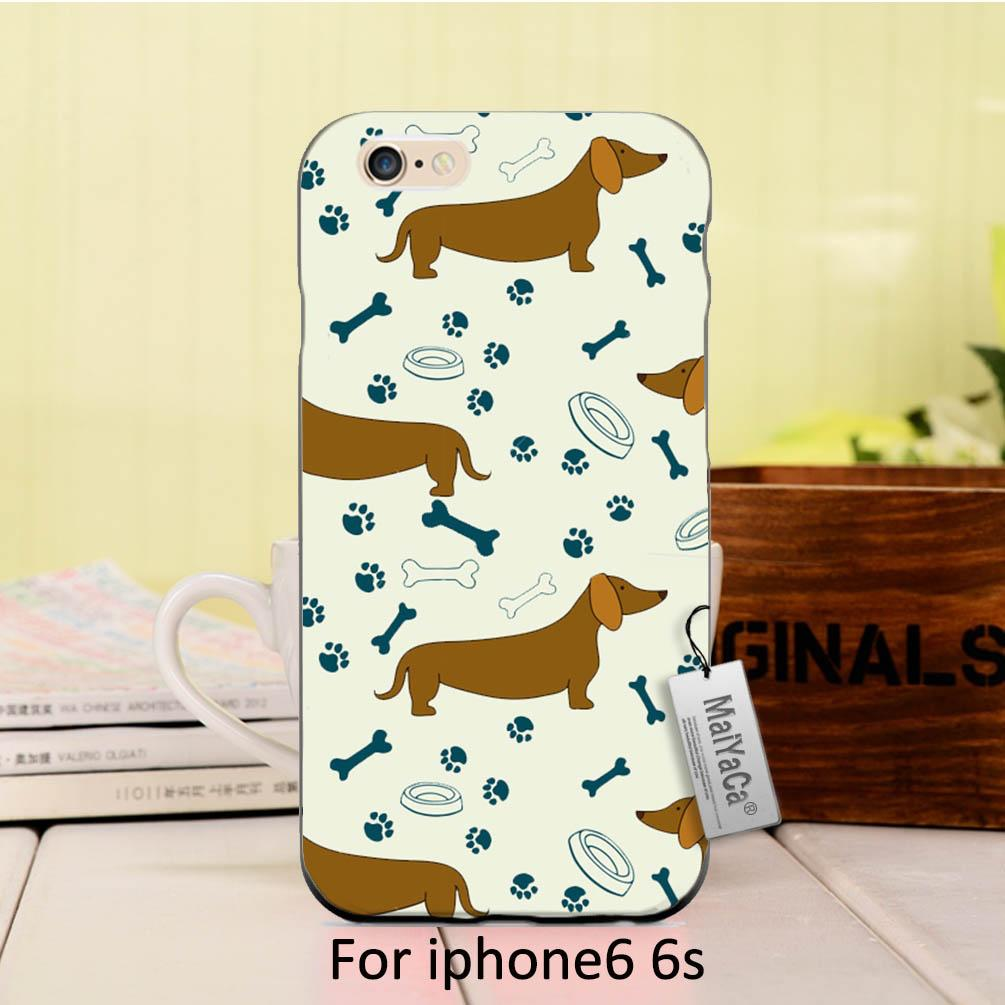 MaiYaCa Cute dogs Bone and footprints On Sale Luxury Cool phone Accessories Case For iPhone 6 6s case