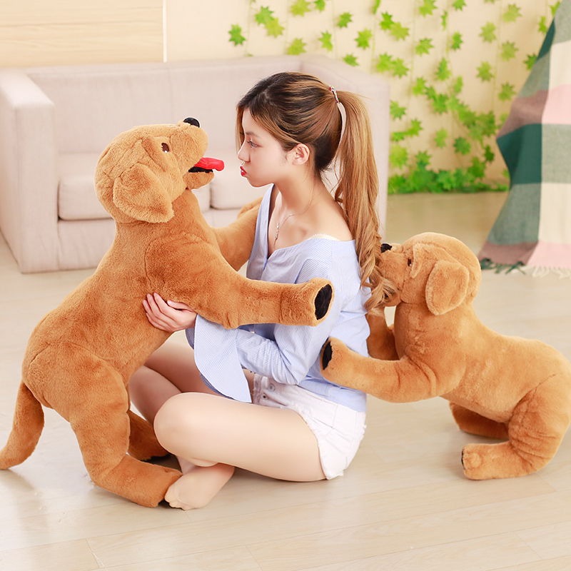 40/75cm Simulation Labrador Plush Toys Cute Staffed Animal Dog Plush Doll Soft Kids Gift Doll Children Appease Toy High Quality