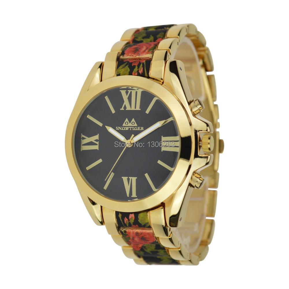 2016 Nowa znana marka złota Casual Genewa Zegarek kwarcowy kobiety - Męskie zegarki - Zdjęcie 1