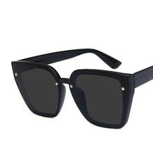 2019 New Sunglasses Square Rivet Simple Avant-Garde Men And Women Big Box Outdoor Anti-UV Fashion Wild