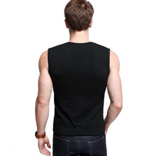 Mens Cotton T-Shirts V-Neck Short Sleeve Summer Fashion Male Muscle Tank Shirts Top Tees European Style Slim Fit