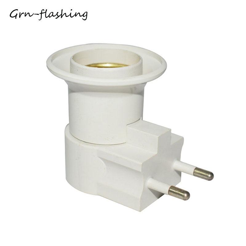 E27 LED Lamp Bulb Socket Adapter Converter 110V 220V EU Plug E27 Bulb Base Socket With On-off Button Switch Control