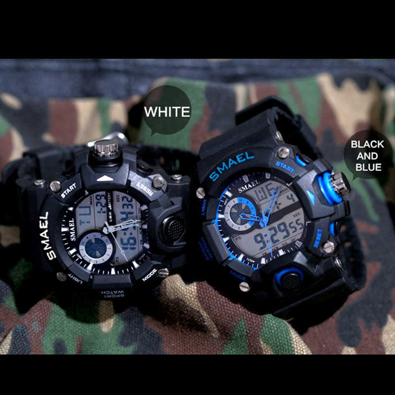 SMAEL Orologi Mens Led Digital Orologio Degli Uomini di Sport Militare Esercito Orologi Da Polso Maschile Analogico S Resistente Agli Urti Orologio Gli Uomini Reloj Hombre