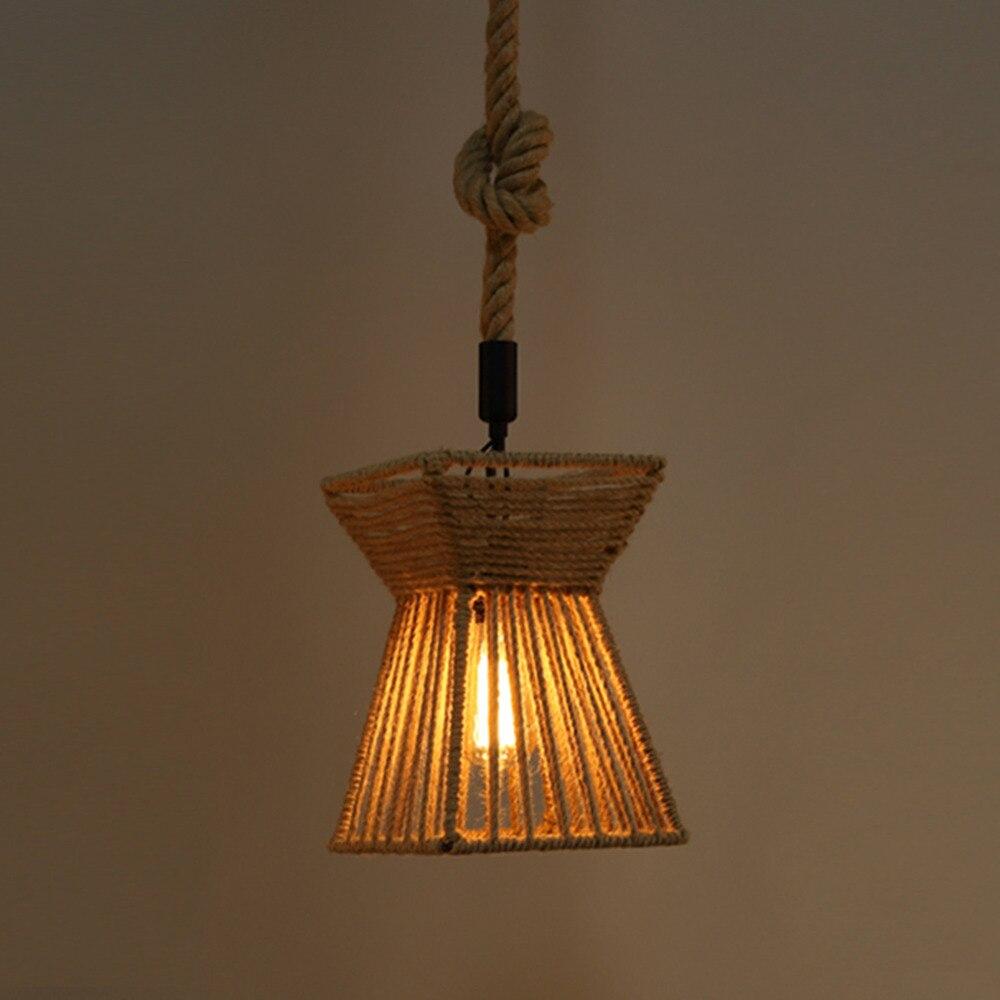 camo cuerda colgante de luz rstico de la vendimia retro decoracin del hogar cafe tienda restaurante
