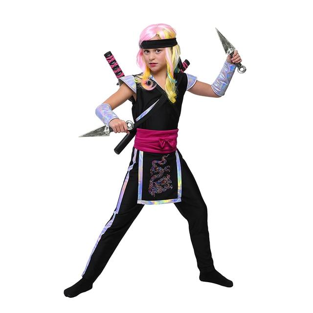 Girls Ninja Child Cosplay Princess Dress Carnival Party Halloween Costume 2017 New Dresses Clothes  sc 1 st  AliExpress.com & Girls Ninja Child Cosplay Princess Dress Carnival Party Halloween ...