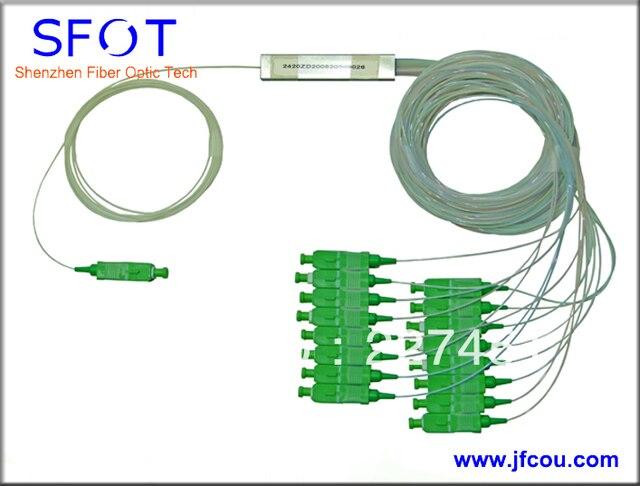FTTH 1x16 Порт Мини-ПЛК Splitter, с SC/APC разъемы, С. м. 0.9 мм, 1.5 М