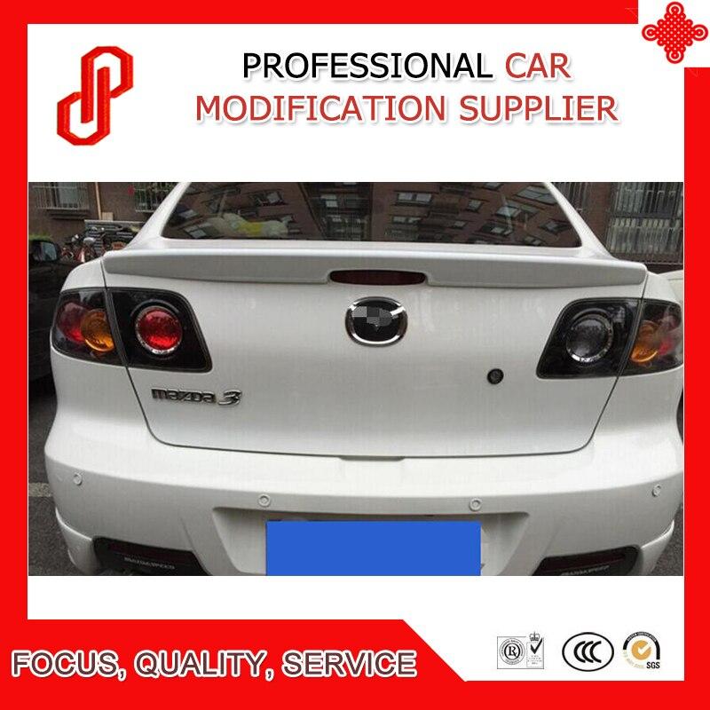Hot sale ABS primer black white red ect color car rear lip spoiler for Mazda 3 M3 2006 2007 2008 2009 2010 2011 2012 car spoiler