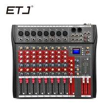 CT-8 ETJ Marca 8 Canais Mixer De Áudio Com Entrada USB do Console de Som DJ Equipamentos 48 V Alimentação Fantasma