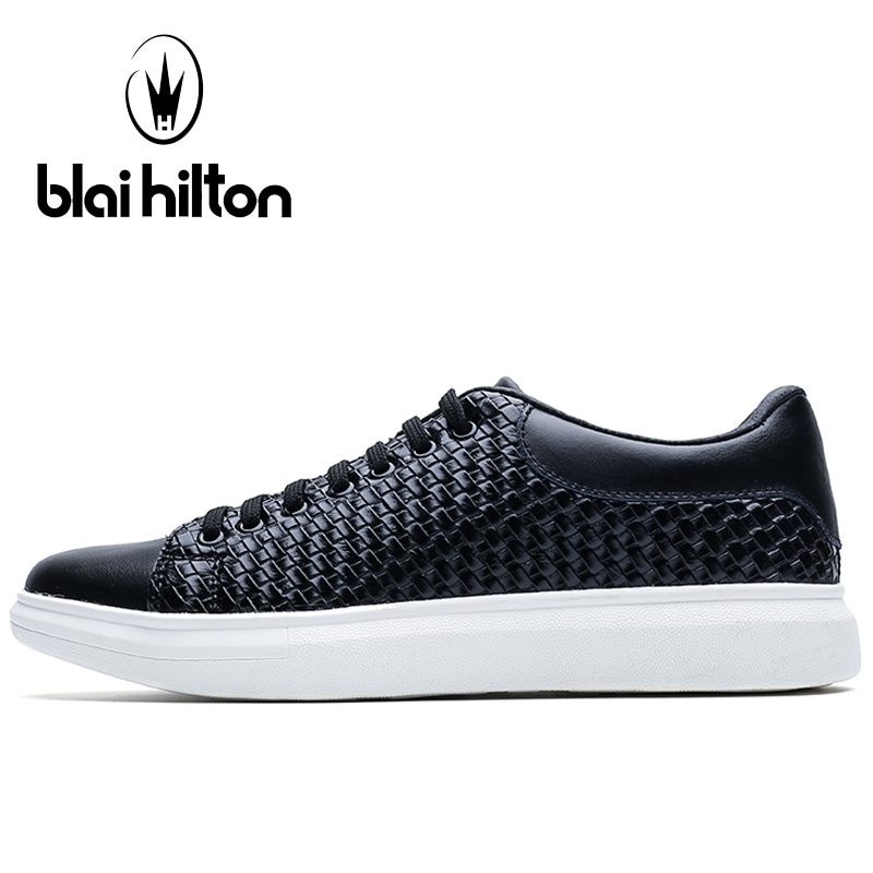 Prix pour Blaibilton Véritable Planche À Roulettes En Cuir Chaussures Pour Hommes Respirant Sport Chaussures Homme Marque 2017 De Massage Équilibrée D'été Hommes de Sneakers
