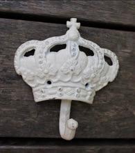 1pcs  13x13cm Retro cast iron clothes crown hook Wall decoration