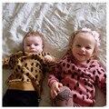 2016 Бобо Выбирает Толстовки Кофты Дети С Длинным Рукавом Кофты зерна Леопарда Печати дети Толстовка детская одежда