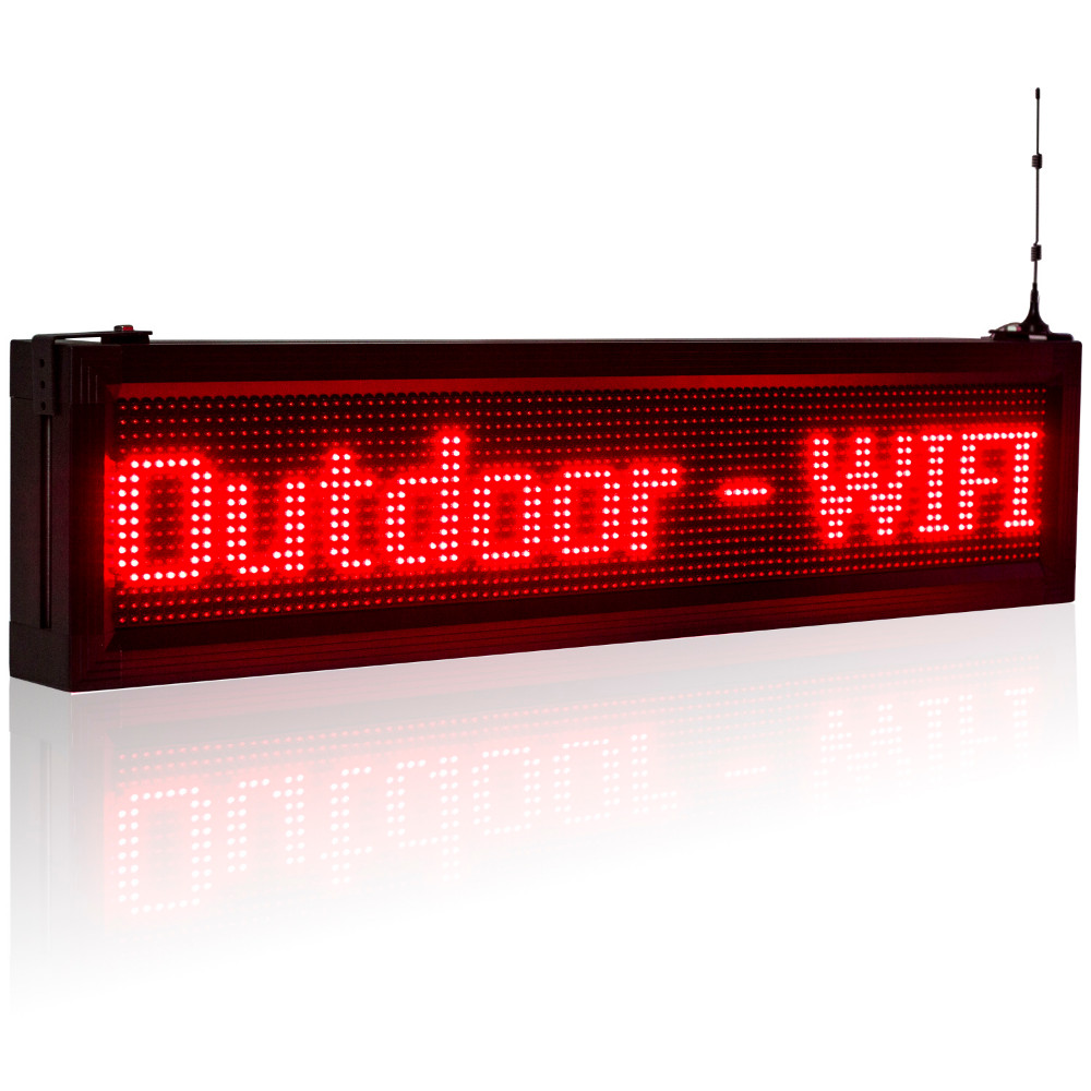 P10 Outdoor Moving Led Display Single Color Red2